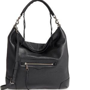 Rebecca Minkoff Slim Regan Leather Hobo Bag. New
